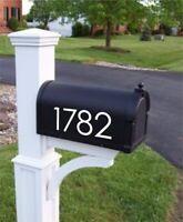 Mailbox Address Numbers Decal | Mailbox Decor