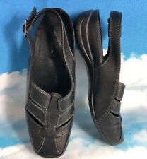 Easy Street Black Shoes Comfort Wave Slingback Mules Clogs 10 Womens