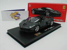 """Bburago Signature 18-36907BK # Ferrari LaFerrari aperta in """" schwarz """" 1:43 Neu"""