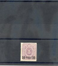 GERMAN OIFFICES IN TURKEY Sc 1(MI 1a)*FINE+ LH, 1884 10p/5pf GREY PURPLE $140