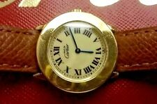 Must de Cartier Vermeil  Date Yellow Gold Plated Argent