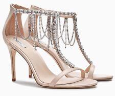0032c77ba88 NEXT Blush Pink Embellished Satin High Heel Sandals - Size UK 7-