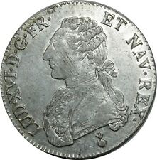 O1532 TRES RARE Ecu Louis XVI 1791 AA Metz Argent Silver SUPERBE !!! ->F offre