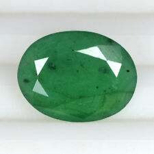 Natural Green Emerald Oval Cut Zambia Mined Loose Gemstone 3.50 Cts Free Ship