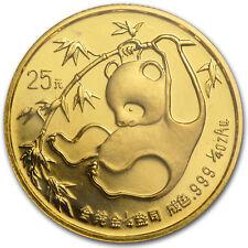 1985 China 1/4 oz Gold Panda BU (Sealed) - SKU #11403