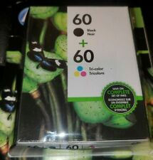 New HP 60 Black & 60 Color INK CARTRIDGES Exp Oct/2021