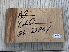 Alvin Robertson autographed signed floorboard NBA Spurs/Bucks PSA w/ COA