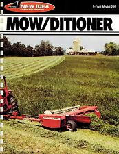 NEW IDEA 299 MOW/DITIONER  SPECIFICATIONS and SALES BROCHURE