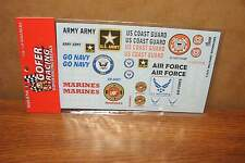GOFER RACING DECALS MILITARY SPONSERS 1/24-1/25 SCALE