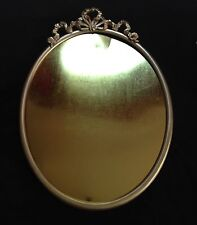 Robert Zacharias Co Of Chicago 24 K Gold Plated Decorative Metal Oval Frame 14""