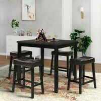 Dining Table Square Kitchen Breakfast Counter Height Furniture Home Furniture US