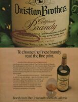 1980 Christian Brothers California Brandy 80 Proof Label Closeup & Bottle Ad