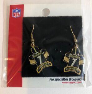 Pittsburgh Steelers Rothlisberger 7 Jersey Dangle Earrings