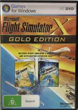 GAME - PC - Microsoft Flight Simulator X Gold Edition - COMPLETE - FREE POST #P1