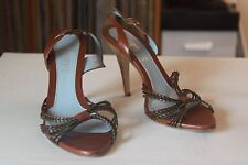 Lambertson Truex Multi Color Vamp 4 Inch Heel Slingbacks Size 39 Made In Italy