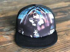 Trucker Hat SnapBack Tupac 2Pac Makaveli Adjustable Strap (BLACK)