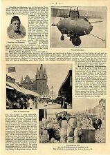Giuseppe piños submarino u. frankfurter primavera de la feria mercado platos 1903