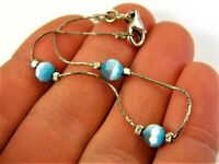 Old vintage retro Sterling Silver 925 bracelet with blue stones women's 235s
