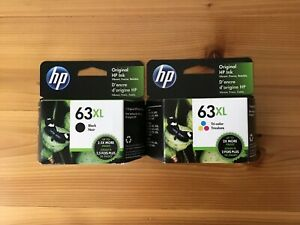New HP 63XL Black & Tri-Color Genuine 2 Pack Combo. Exp March 2023 Free Shipping