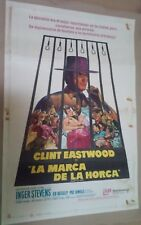 CH1 Original HANG THEM HIGH CLINT EASTWOOD MOVIE Poster Argentina 1967