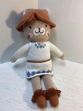 "Cuddle and Kind Kitty Cat Chelsea Plush Handmade Peru 20"" - 22"" Sweater Knit"