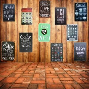 Walls Decors Poster Arts Metal Tin Signs Wifi Shabby Home Bar Cafe Vintage Retro