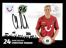 Christian Pander Autogrammkarte Hannover 96 2011-12 Original Signiert