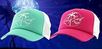 New Roxy Trucking Womens Cherry Jade Palm  Trucker Mesh Snapback Cap Hat