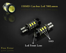 2x 15smd T15 W16W Reverse LED Cree White 6000K Canbus Nissan X-Trail T32 2013+