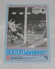 Bolton Wanderers -v- Charlton Athletic 1982-1983