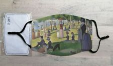 A Sunday Afternoon On The Island La Grande Jatte face mask (Georges Seurat)