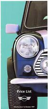 Rover Mini Prices & Options 1997-98 UK Market Foldout Brochure 1.3i Cooper