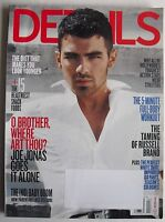 JOE JONAS GOES IT ALONE April 2011 DETAILS Magazine THE TAMING OF RUSSELL BRAND