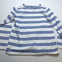 Vineyard Vines Womens Sz M Blue White Stripe Long Sleeve Top A1409