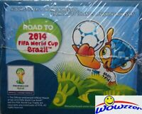 2014 Panini Road to the World Cup Brazil 50 Pack Sealed Sticker Box-250 Stickers