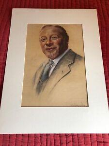 EDMUND GWENN ART PASTEL BY G MAILLARD KESSLERE 1950 RARE ORIGINAL MATTED MUSEUM