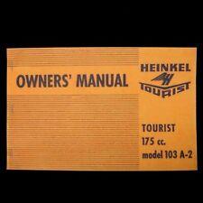 MANUAL – Vintage Owner's 175cc Tourist Motor Scooter -- HEINKEL