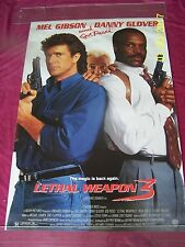 LETHAL WEAPON 3 1992 Original ROLLED One Sht. Movie Poster Action Crime Thriller