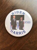 Nice Joe Biden Kamala Harris 3 Inch 2020 Political Campaign Pinback Button