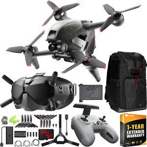 DJI FPV Combo Drone 4K Quadcopter with Goggles & Remote Control On The Go Bundle