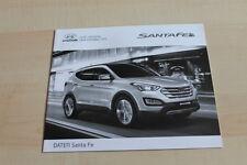 129096) Hyundai Santa Fe - Preise & t. Daten & Ausstattungen - Prospekt 08/2013