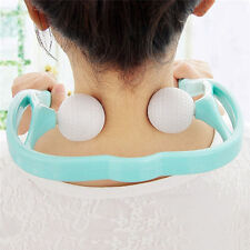 Neck Back Shoulder pain Massager Body Parts Roller Ball Self-massage Tool New