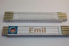Zollstock mit Namen     EMIL   Lasergravur 2 Meter Handwerkerqualität