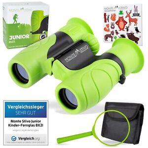 Monte Stivo Junior | Kinderfernglas 8X21 grün | Klein, leicht & kompakt