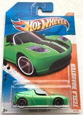 2011 Hot Wheels Tesla Roadster green