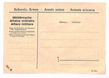 BF260 SWITZERLAND Military Envelope Unused