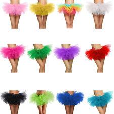 Organza Tutu Adult Teen 5 Layered tulle Mini Skirt Pettiskirts Women Costume