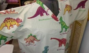 5X-6X--Scrub Top--Dinosaurs-Plus Size