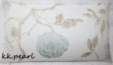 Double Sided Vintage Retro Cushion Cover JOHN LEWIS LINEN ROSE Fabric Light Blue