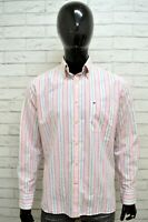 Camicia Uomo TOMMY HILFIGER Taglia Size XL Maglia Righe Cotone Chemise Shirt Man